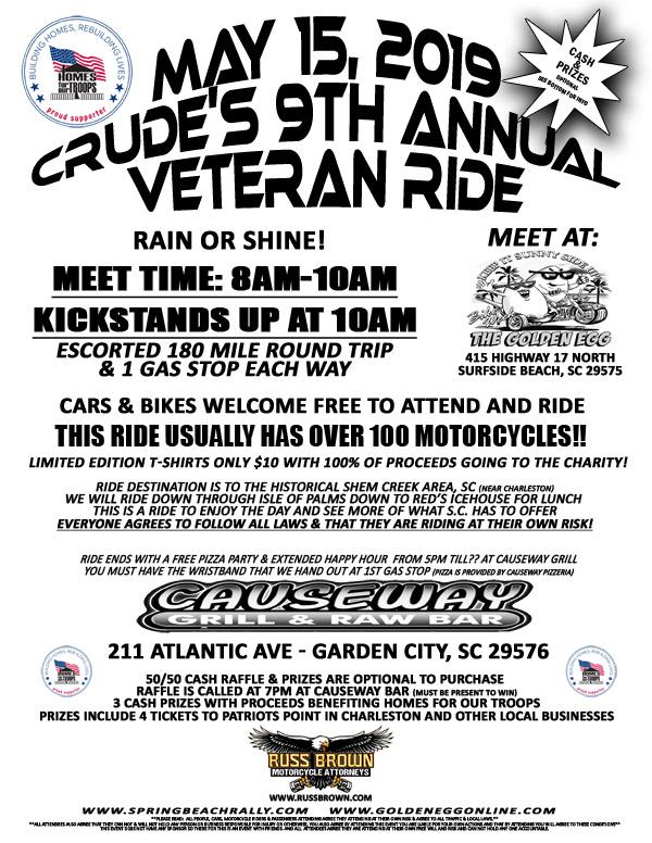 Crude's 9th Annual Ride 2019