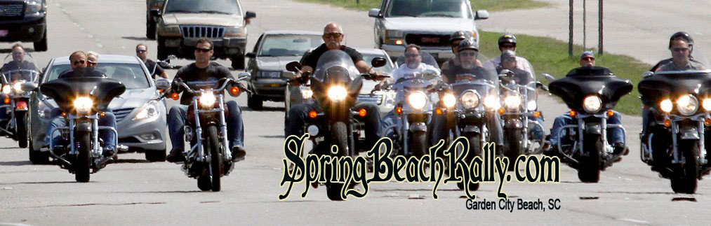 "Spring Beach Rally, also called ""Harley Bike Week"" is a week-long Motorcycle Rally that started in 1939 and attracted as many as 500,000 visitors to the area every May. In 2017 the attendence was over 500,000 bikers. As the rally continues now in 2018 we invite all bikers to our event which takes place May 11th-20th 2018. This event has made great strides and efforts on coming back and to become one of the more popular spring rallies in the United States. There is allot to do and see in this area and it boasts allot of biker friendly businesses that welcome bikers to the community. So plan your trip today and come enjoy the week with other bikers, meet new friends or hook up with old friends. There is a Kick ass Ride planned for vets.. Crude's Ride on May 16th 2018, its a full day, we meet for breakfast then ride about 90 miles (180 miles round trip) then end up back in Garden City Beach till 2am, this is an annual event and has grown every year see the events page for more info... In 2010 the meet and greet started on a whim with only 5 bikers, then in 2011 the event was born and 14 attended, In 2012 the event drew over 50 bikes many of which has passengers. 2013 & 14 We had 50+ bikes, in 2015 & 2018 we had over 85 bikes and everyone loved the ride. All bikes cars and people are welcome to come along for the ride. this is not a charity ride or sponsor ride, there is no cost to come along, everyone pays for their own food and drinks. this is simply a day to meet other bikers with the same interests. See yall in May 2018!!!"